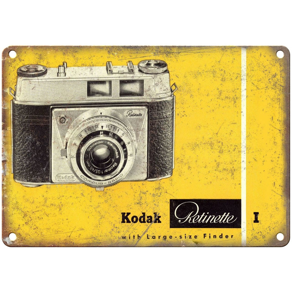 "Kodak 35mm Film Camera Retinette I 10"" x 7"" Retro Look Metal Sign"