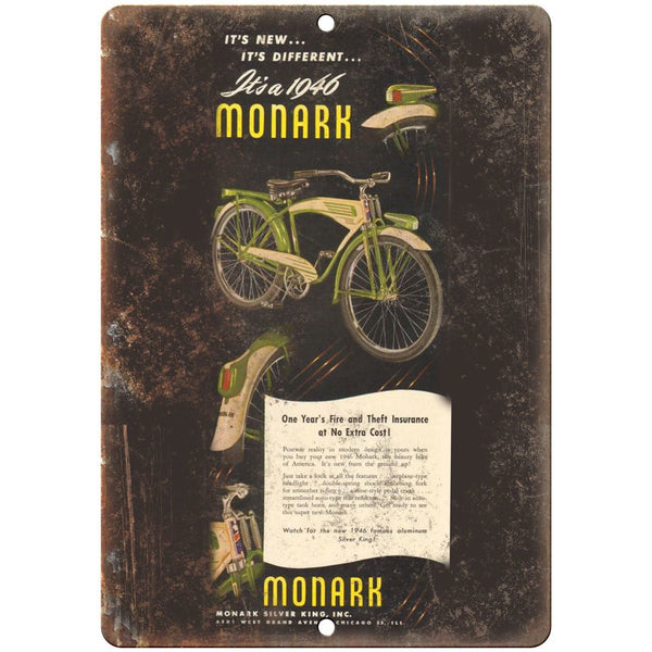 "1948 Monark Silver King Inc. Bicycle Ad - 10"" x 7"" Retro Look Metal Sign B122"