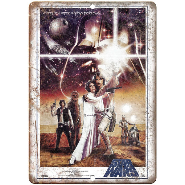 "10"" x 7"" Metal Sign - Star Wars Lucas Films - Vintage Look Reproduction"