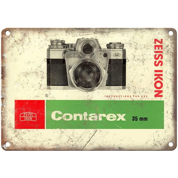 "Contarex Zeiss Ikon 35 mm Film Camera 10"" x 7"" reproduction metal sign"