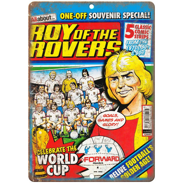 "Roy of The Rovers Soccer Comic Cover Art 10"" X 7"" Reproduction Metal Sign J434"