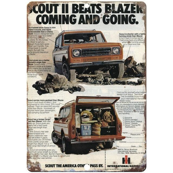 "Scout Truck 10"" x 7"" Reproduction Metal Sign"