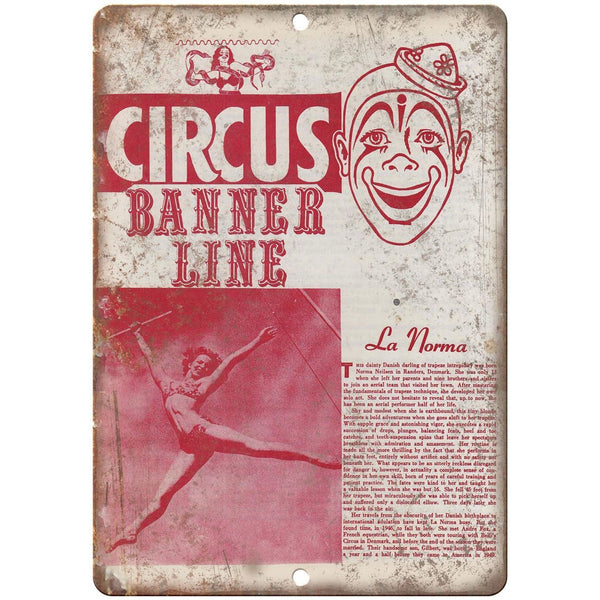 "Banner Line Circus La Norma Poster 10"" X 7"" Reproduction Metal Sign ZH60"