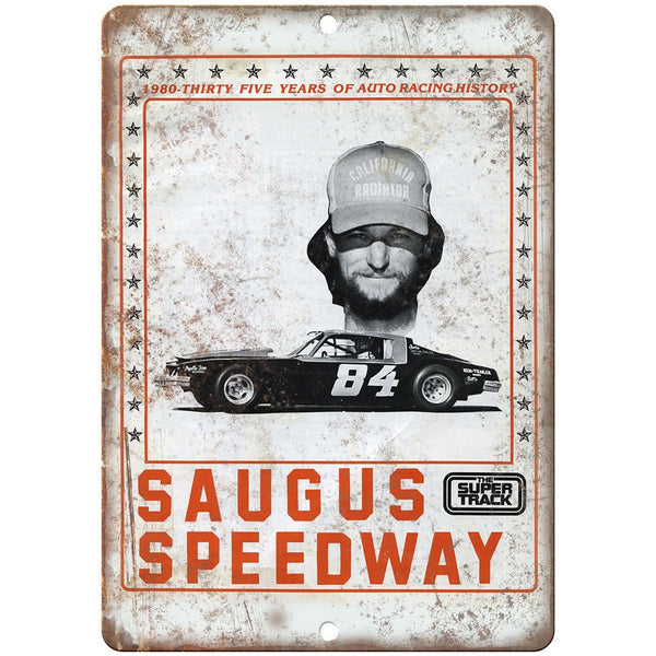 "Saugus Speedway Super Track Ad 10"" X 7"" Reproduction Metal Sign A663"