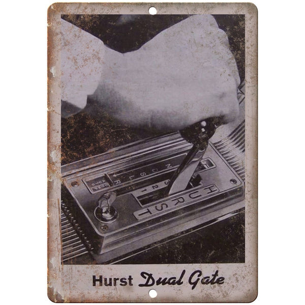 "Hurst Performance - Dual Gate Car Shifter - 10"" x 7"" Reproduction Metal Sign"