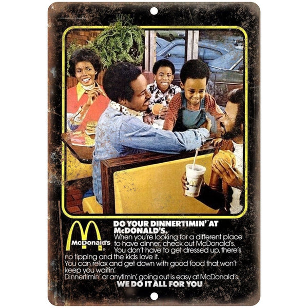 "1970s McDonalds Print Ad 10"" x 7"" Reproduction Metal Sign N24"