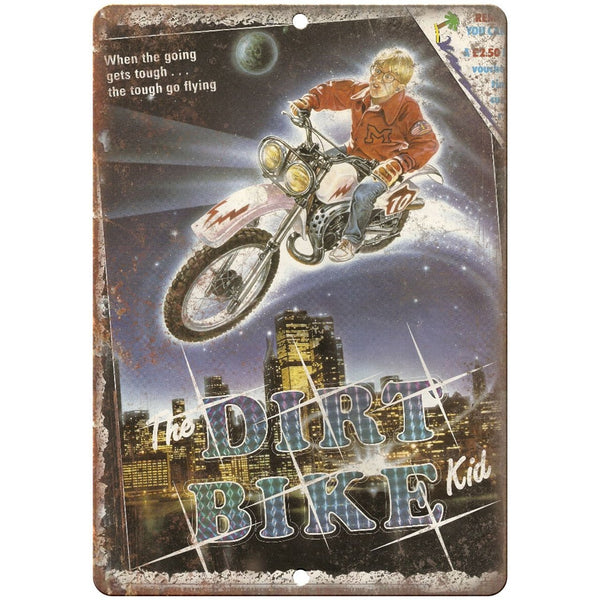 "The Dirt Bike Kid VHS Cover RARE 10"" x 7"" Reproduction Metal Sign"