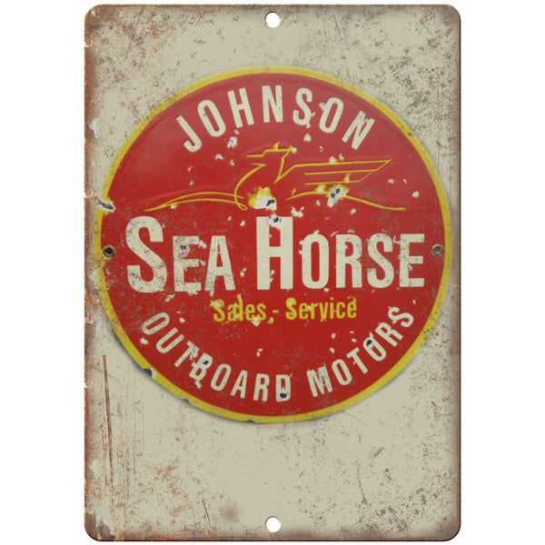 Sea Horse Outboard Motors Porcelain Look Reproduction Metal Sign U121