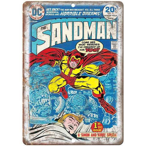"The Dandman Vintage Comic Book Art 10"" X 7"" Reproduction Metal Sign J274"