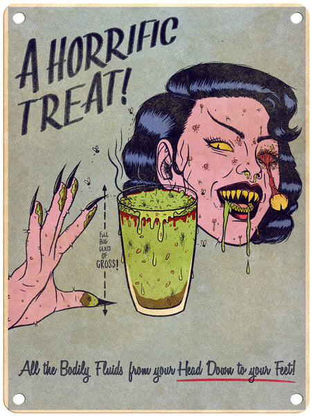 "Jenny Richardson -A Horrific Treat - 9"" x 12"" Metal Print"