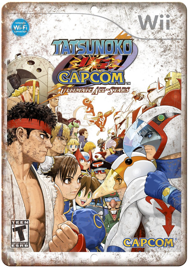 Tatsunoko Capcom Nintendo Wii Cartridge Art Gaming Metal Sign