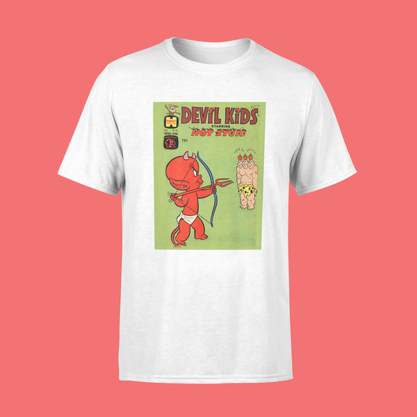 Devil Kids Retro Comic Art T-Shirt White