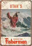 Utah's Number One Fisherman (Saltwater) Metal Sign