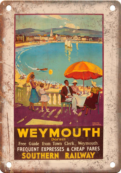 Weymouth Dorset Southern Railway Metal Sign