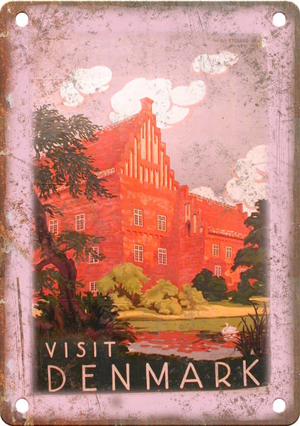 Denmark Vintage Travel Poster Metal Sign