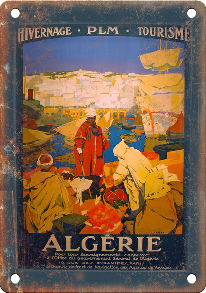 Algerie Vintage Travel Poster Art Metal Sign