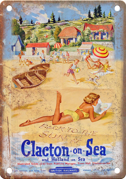 Clacton on Sea Holland British Railways Metal Sign