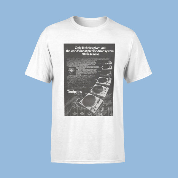 Technics Turntables Vintage Ad T-Shirt White