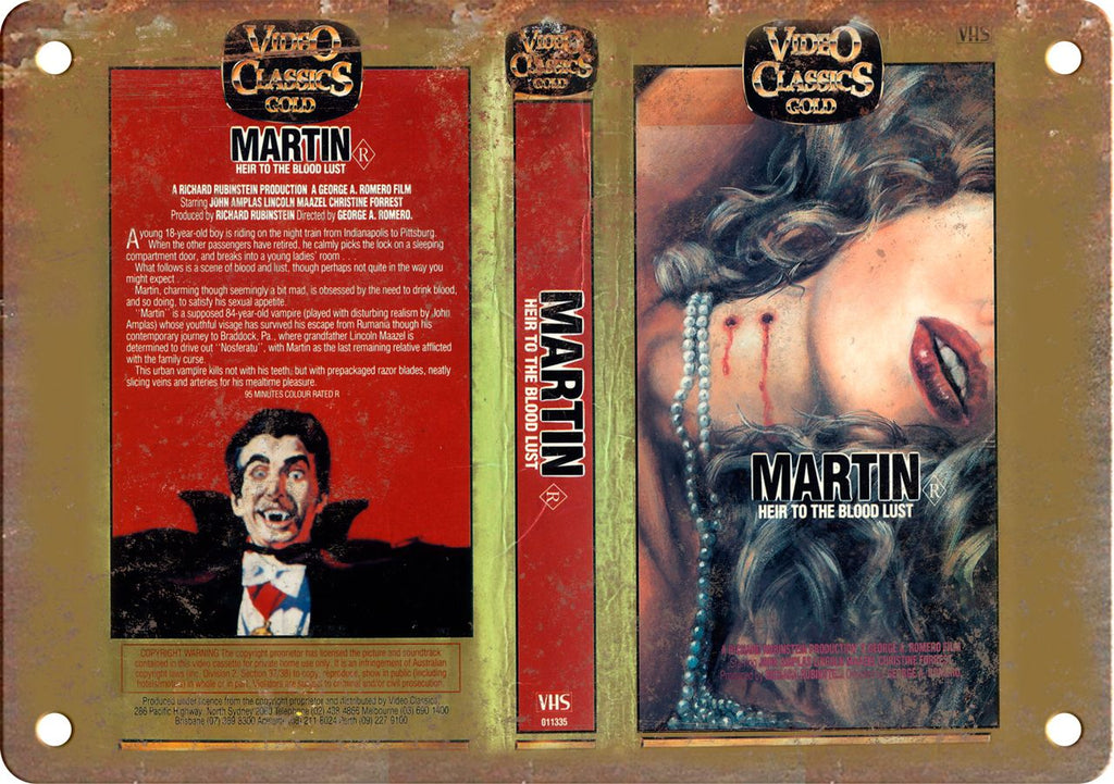 Martin Vintage VHS Cover Art Metal Sign