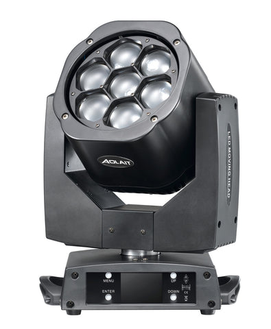 LED Moving Head Wash + Lens rotate 15 Watt RGBW 4 in 1 x 7