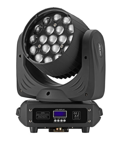 LED Moving Head Wash + Zoom 15 Watt RGBW 4 in 1 x 19