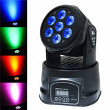 LED Moving Head Light Wash 10 Watt RGBW x 7