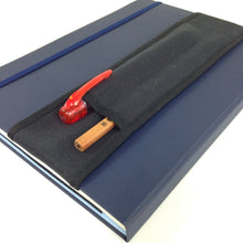 2-pocket / Choose Size / Notebook Pen Holder / Black with Black
