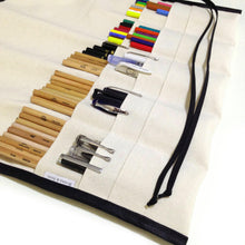 L / 48 Colored Pencil Roll / Buy it For Life / Black with Black