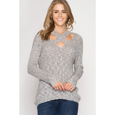 Cozy Feelings Sweater In Gray