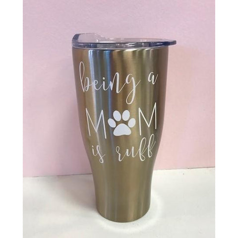 """Ruff"" Gold Stainless Steel Tumbler"