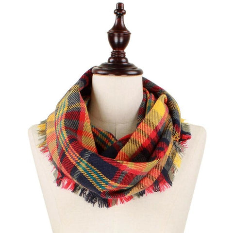 Fall Tones Infinity Scarf