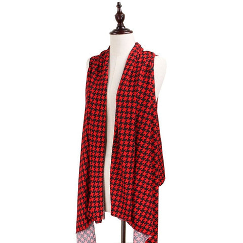 Red and Black Houndstooth Vest