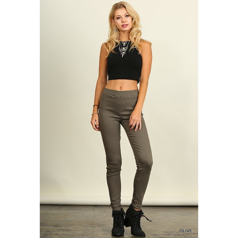 Your Everyday Jeggings In Olive