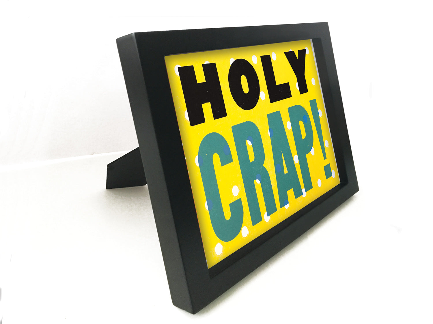 "HOLY CRAP! Hand Printed 5"" x 7"" Framed Print"