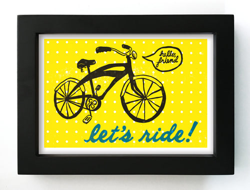 "Let's Ride! 5"" x 7"" Framed Print"