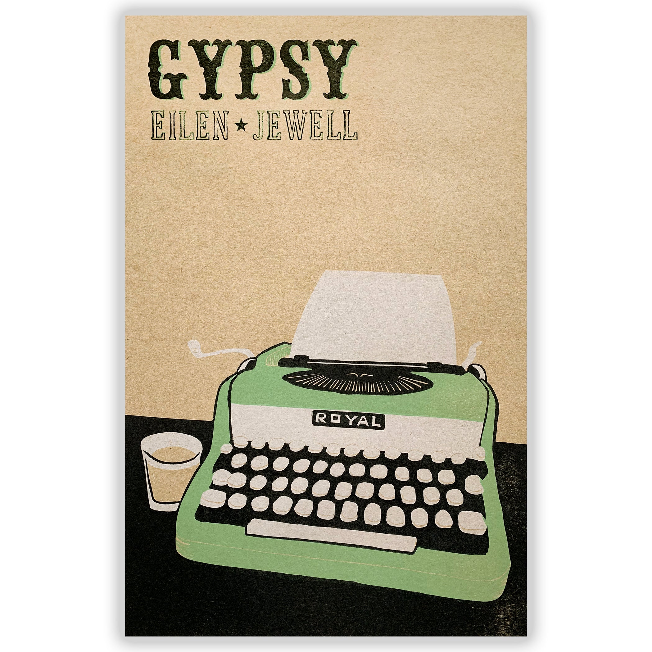 "Eilen Jewell ""Gypsy"" - Typewriter letterpress print"