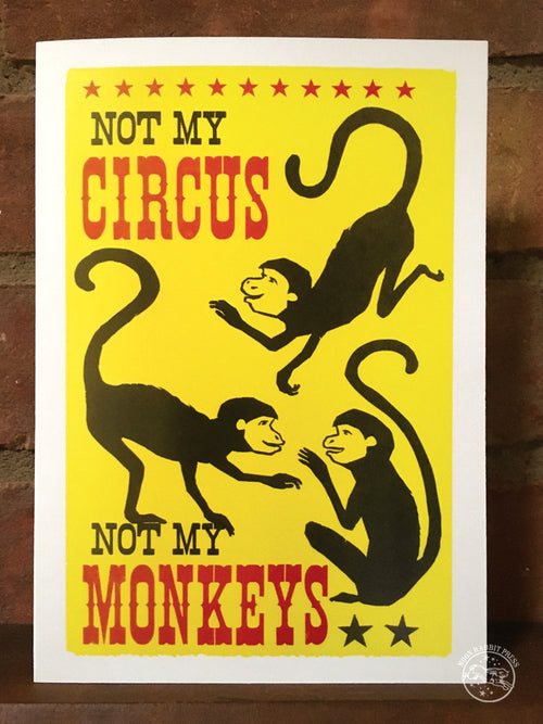 Not My Circus, blank greeting card