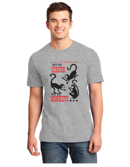 Not My Circus, Short sleeve Crew Neck T-Shirt - MENS/UNISEX