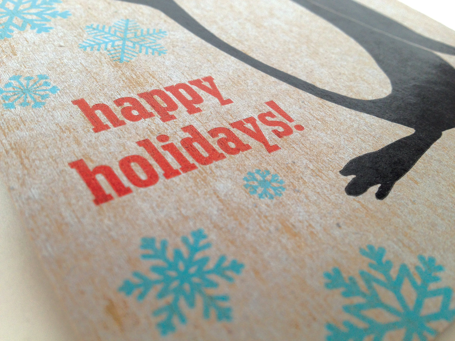 Penguin Holiday Card letterpress printed in Rochester NY