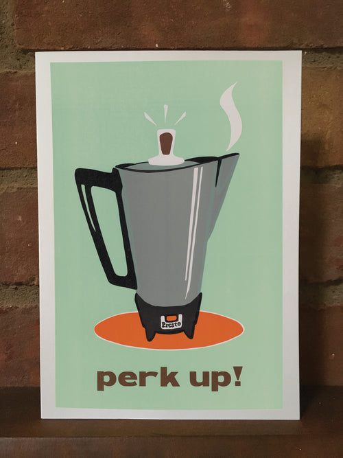 Perk Up! blank greeting card
