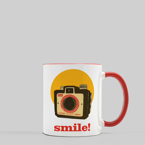 Smile! Ceramic Coffee Mug, 11oz