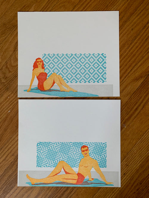 Summer Pool Party Letterpress Print!