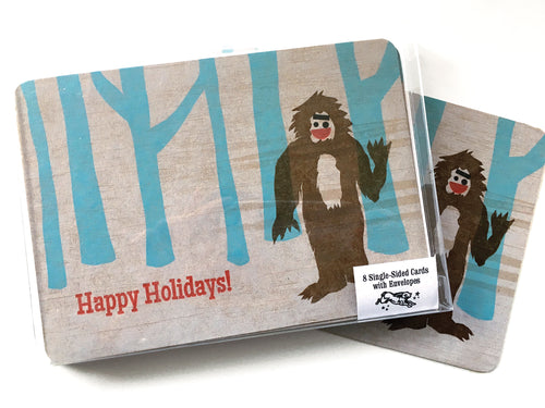 Holiday Yeti Card, 8-Pack, Letterpress Printed, single-sided, 5x7