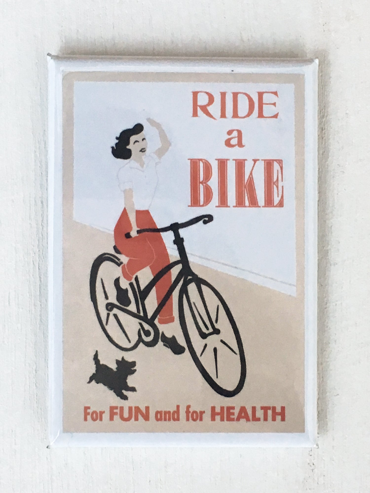 "Ride A Bike, 2""x3"" Art Magnet"