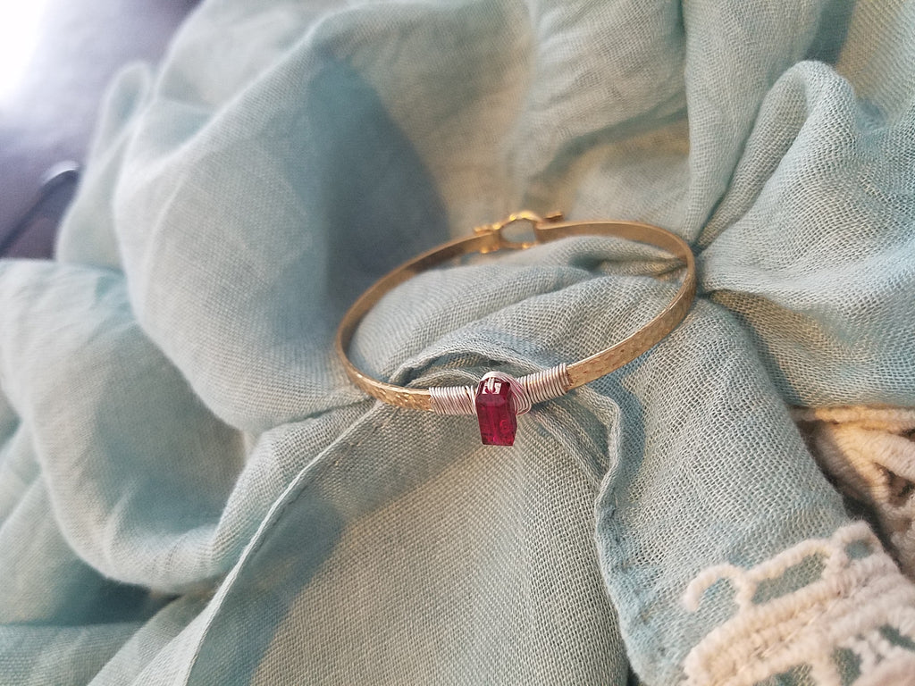 Simple Red Stone Bracelet