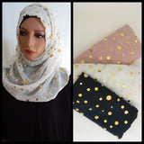 Golden Polka Dot Scarf