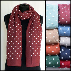 Polka Dot Scarf With Sparkles