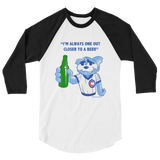 Beer 3/4 sleeve raglan shirt