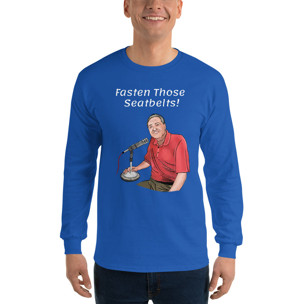 Fasten Those Seatbelts Pat Hughes Men's Long Sleeve Shirt