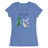 Beer Ladies' triblend short sleeve t-shirt